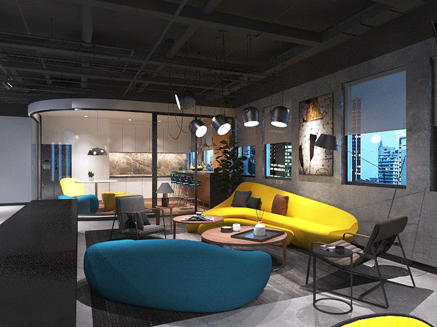 多弗地产办公空间 无垠之境,KD商业,重庆别墅装修,KD室内设计事务所