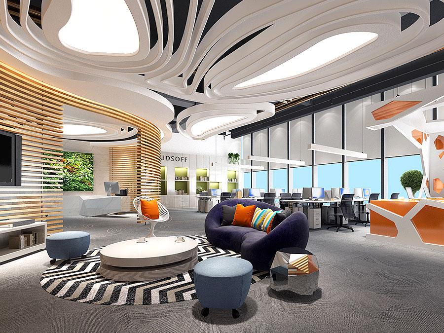 华润云软 以放松的姿态实现绿色办公,KD商业,重庆别墅装修,KD室内设计事务所