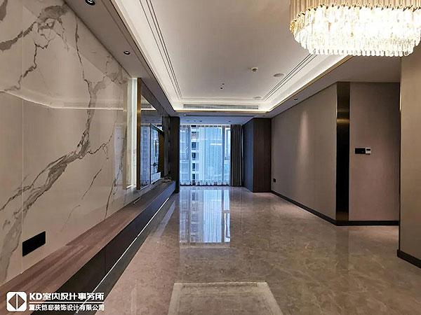 融景城实景工地硬装完工,KD工程,重庆别墅装修,KD室内设计事务所