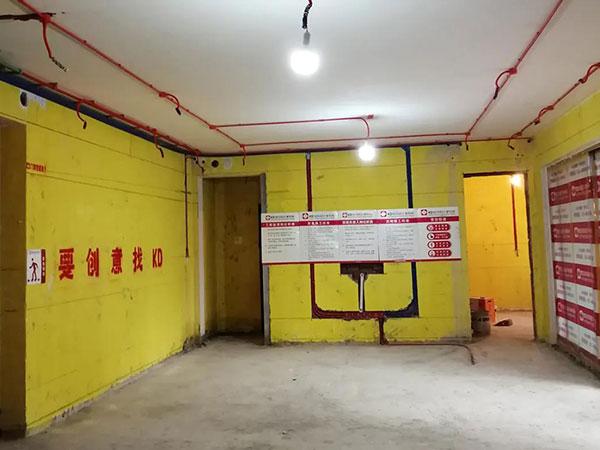 国宾壹号院实景工地水电工艺,KD工程,重庆别墅装修,KD室内设计事务所