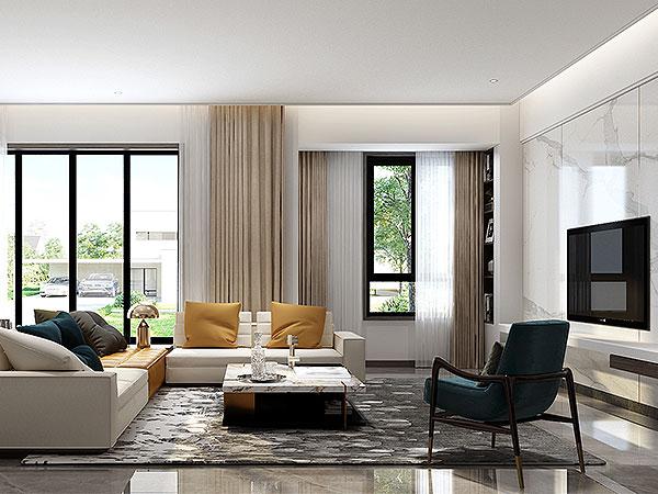 远洋高尔夫 三代同堂的现代精致生活,KD私宅,重庆别墅装修,KD室内设计事务所