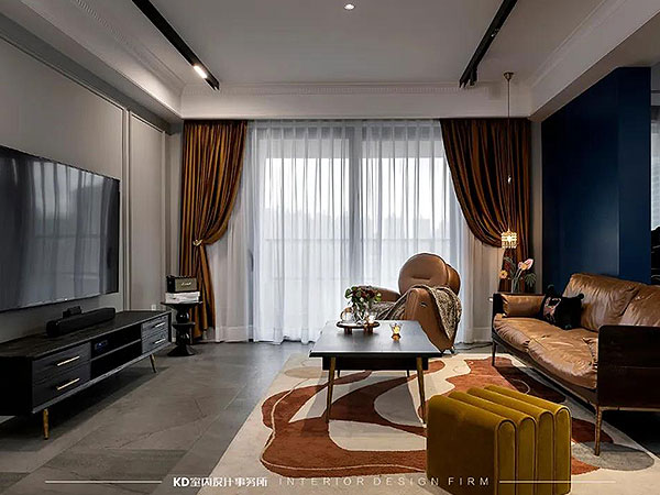 翠湖天地 色彩碰撞 打造风情万种的法式家居,KD私宅,重庆别墅装修,KD室内设计事务所