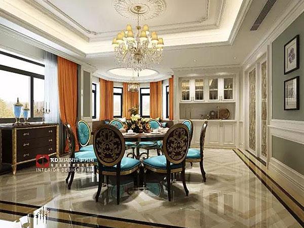 融创勋爵堡 Tiffany蓝与爱马仕橙的惊艳邂逅,KD私宅,重庆别墅装修,KD室内设计事务所