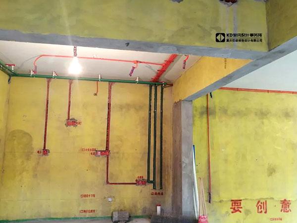 水天花园实景工地水电工艺,KD工程,重庆别墅装修,KD室内设计事务所