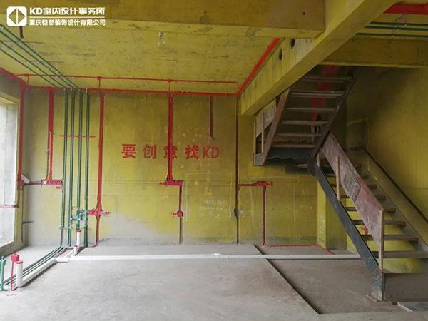 江山樾实景工地水电工艺,KD工程,重庆别墅装修,KD室内设计事务所